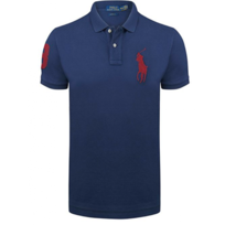 Ralph Lauren - Polo Custom-fit Bleu Marine Big Poney