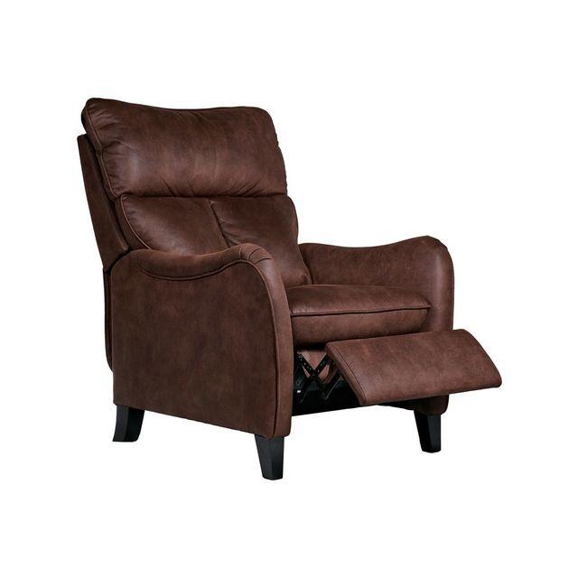 Chitra Fauteuil de relaxation manuel en tissu marron Pego