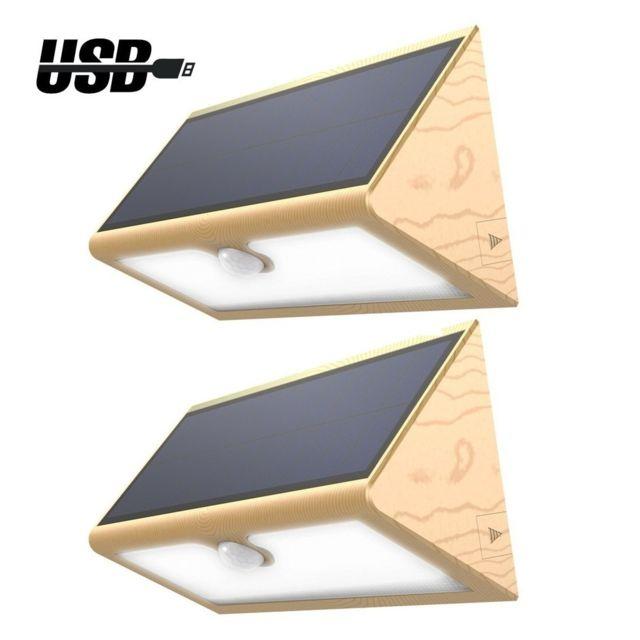 Divers lampe solaire sans fil 46 led 600 lumens eclairage ext rieur imperm able avec 4 modes - Eclairage de jardin sans fil ...
