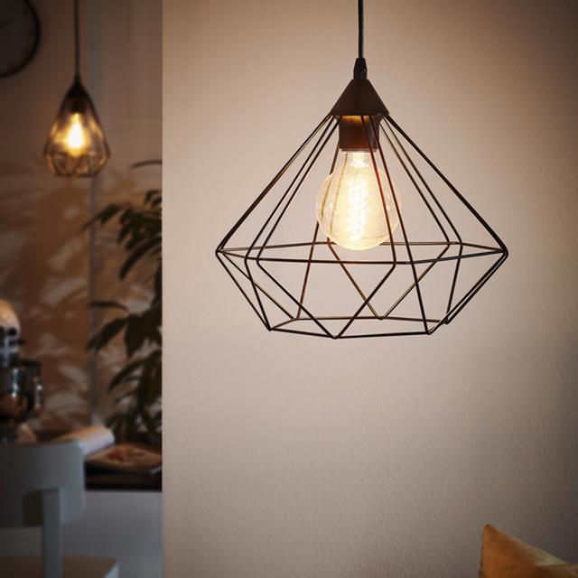 Eglo - Lampe pendante noire Tarbes D32,5 cm 32cm x 110cm x 32cm