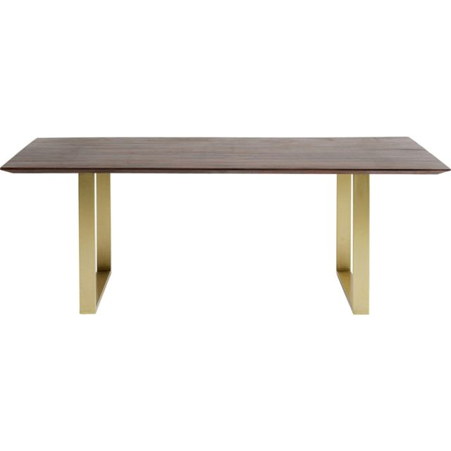 Karedesign Table Symphony noyer laiton 180x90cm Kare Design