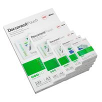 Gbc - Pochettes format carte 64x99 mm 2x125mic brillantes - 100 pochettes