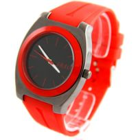 Sbao Femme - Montre Femme Silicone Rouge 2194