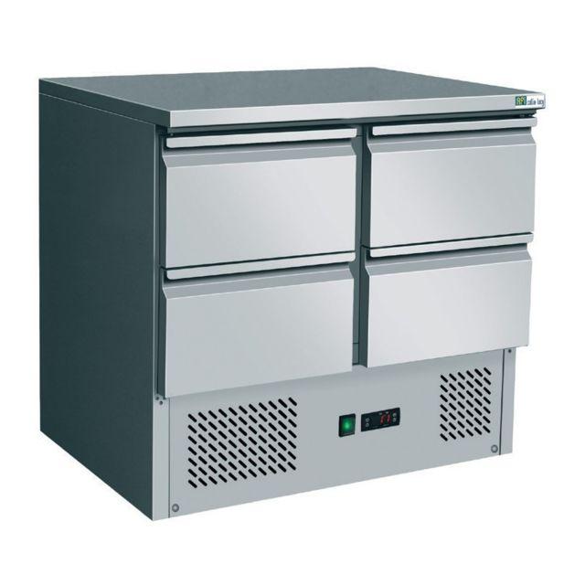 MATERIEL CHR PRO Table Réfrigérée Positive 4 Tiroirs GN 1/1 - 250 L - AFI Collin Lucy - 700