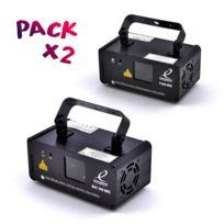 Excelighting - Pack de 2 Jeux de lumière Rgy200-DMX Rouge/Vert/Jaune et P200DMX Rose