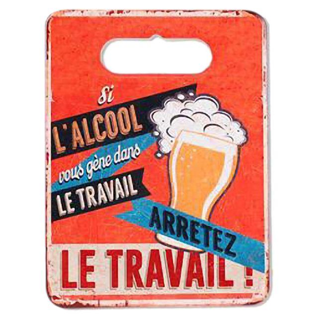 Out Of The Blue Sous plat en Céramique et Liège thème Bière 24 x 18 cm