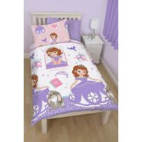 Disney - Parure de lit - Couette 135 x 200 + taie d'oreiller 74 x 28 Princess Sofia