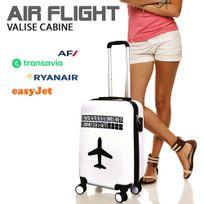 Jet Lag - Valise cabine Air Flight blanc