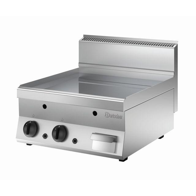 Bartscher Plaque grill gaz 650. L600. lisse