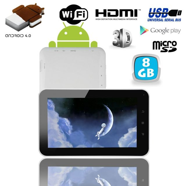 Yonis Tablette tactile Android 4.0 7 pouces capacitif 3D Hdmi 1Go Ram 8 Go