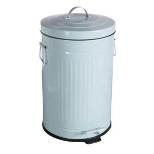 Comptoir de famille poubelle salle de bain m tal bleu for Poubelle de salle de bain bleu