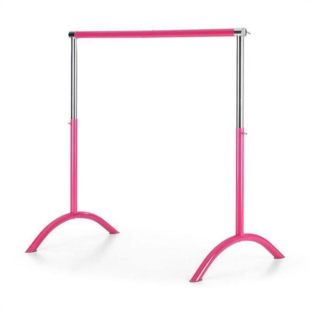 KLARFIT - Bar Lerina Barre danse classique mobile hauteur réglable 110x113cm rose