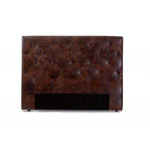 vente unique t te de lit 160 cm enza microfibre vieillie chocolat pas cher achat vente. Black Bedroom Furniture Sets. Home Design Ideas