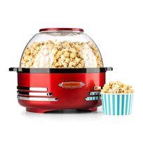 ONECONCEPT - Couchpotato Machine à popcorn Appareil rétro Soirée Home cinéma - rouge