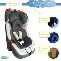 Bebe Lol - Siège auto évolutif Isofix Bébélol® pour enfant groupe 1+2+3 normes Ece R44/04 - gris