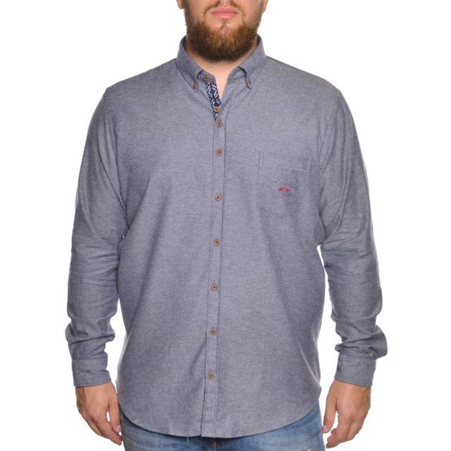 Dario Beltran Chemise grise bleutée