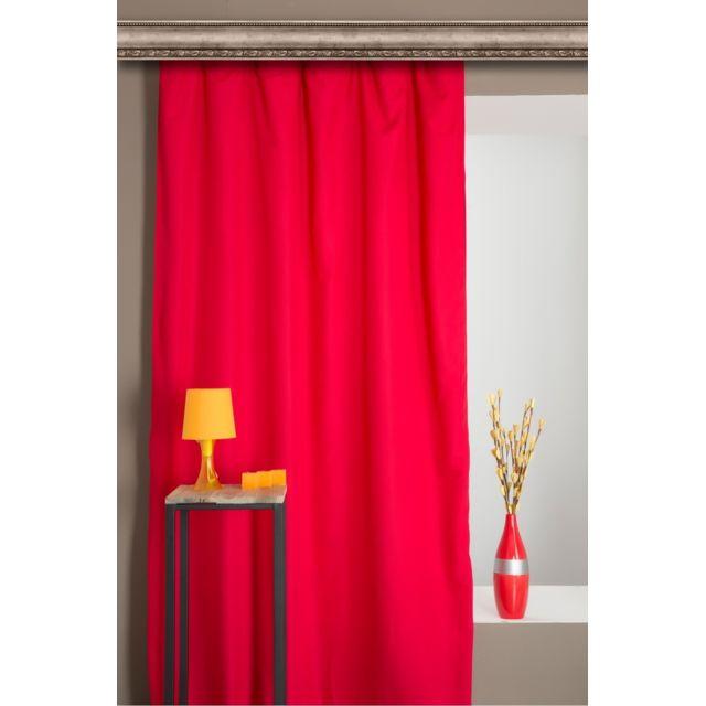 rideaudiscount rideau thermique anti froid 140 x 240 cm galon fronceur pas cher achat. Black Bedroom Furniture Sets. Home Design Ideas