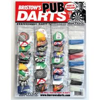 Harrows - Pack ailettes & shafts pour fléchettes - 30 jeux de 3 ailettes - 10 jeux de 3 shafts -pub Darts