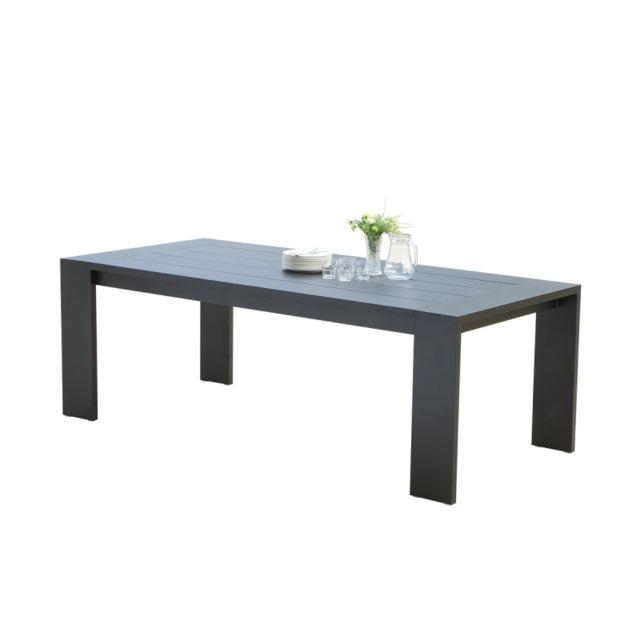Bois Dessus Bois Dessous Table de jardin en aluminium noir 6 places