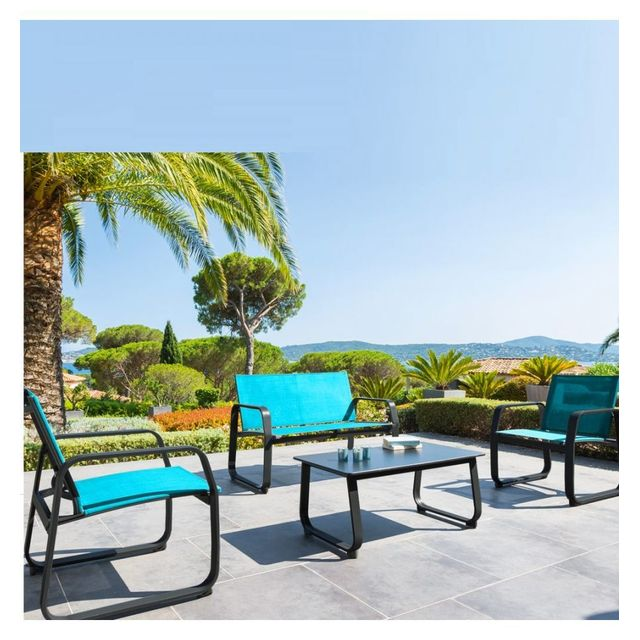 Hespéride - Salon d\'extérieur Hesperide Gili bleu lagon - pas cher ...