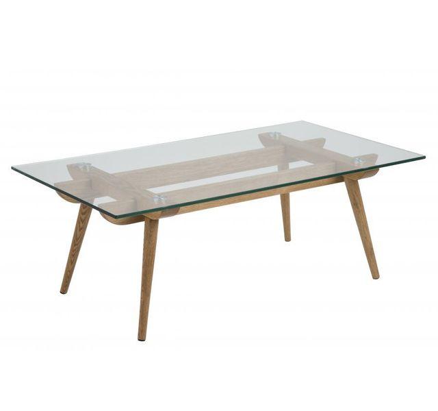 Hellin table basse moderne en bois et verre paixa sebpeche31 - Table moderne en verre ...