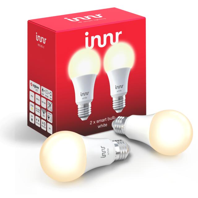 INNR - 2x Ampoules connectées E27 - ZigBee 3.0 - Blanc chaud