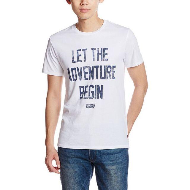 T Set Levi's Xxl Neck Graphic White Blanc In Shirt Adventure F1KJcTl