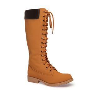 La Modeuse Bottines rangers camel Camel - Chaussures Bottine Femme