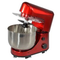 KITCHEN CHEF - robot multifonctions 4l 600w et blender rouge - sm169br