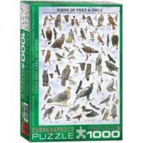 Eurographics - Oiseaux De Proie, Hiboux Et Chouettes - Puzzle De 1000 PiÈCES