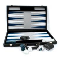 Smir - Echecs Backgammon façon cuir noir intérieur