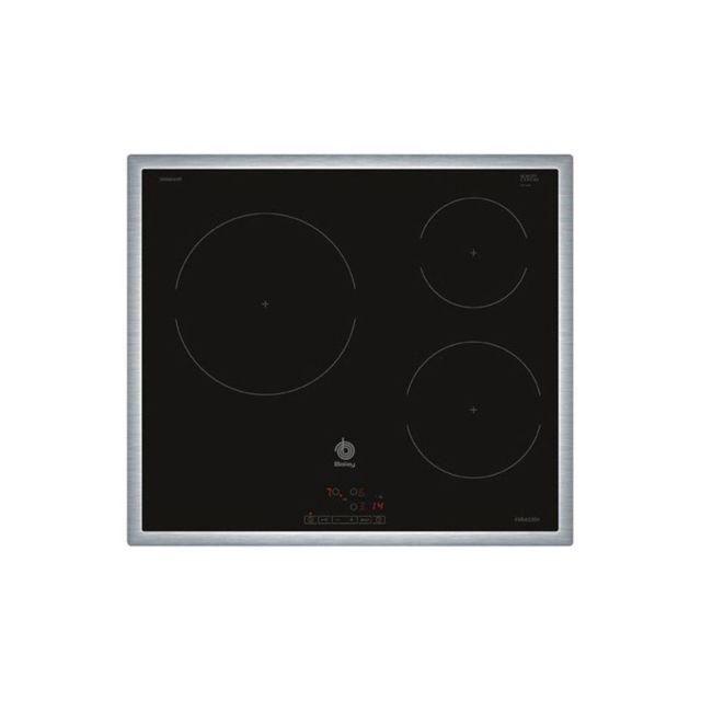 Balay Plaque à Induction 3EB864XR 60 cm Noir 3 zones de cuisson