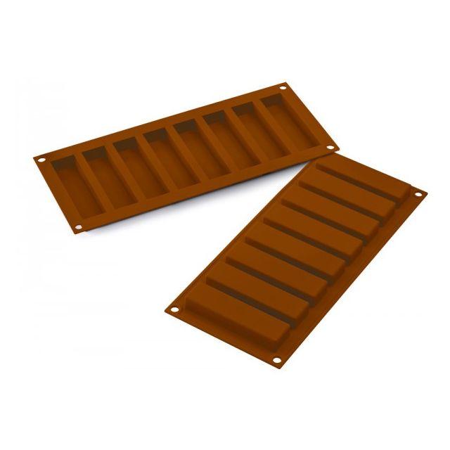 SILIKOMART moule à chocolat silicone 8 barres - 36.184.77.0065