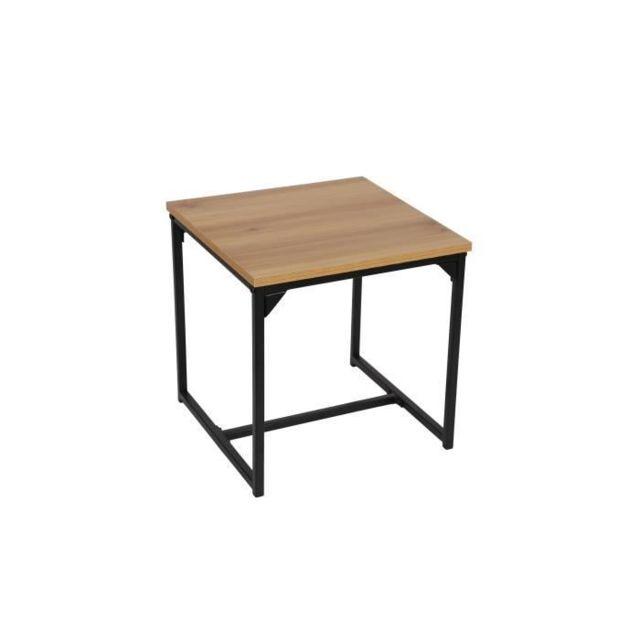 Icaverne BOUT DE CANAPE Table basse / Bout de canapé TEOLLINEN Style industriel - L 40 cm