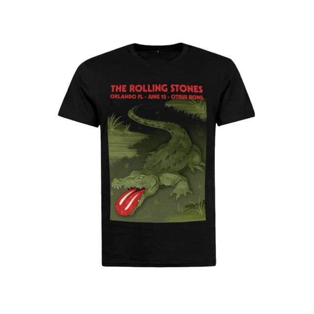 magiccustom rock vintage t shirt rolling stones florida noir xl pas cher achat vente. Black Bedroom Furniture Sets. Home Design Ideas