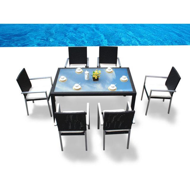 Design et Prix - Magnifique salon de jardin madagascar table + 6 ...