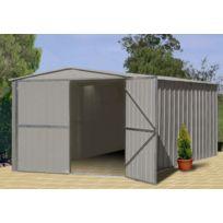 Treco - Garage métal 10x15 Zincalume Eco