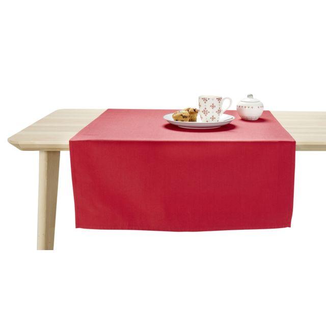 MARQUE GENERIQUE Nappe carrée UNI en polyester Nappe carrée 150x150 cm UNI en polyester - rouge