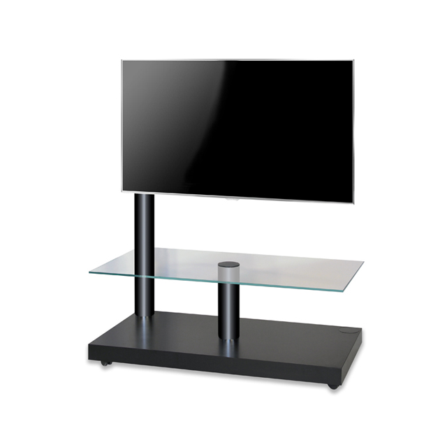 Lc Design Meuble Tv Flag Tower Classic Noir Support Pied De