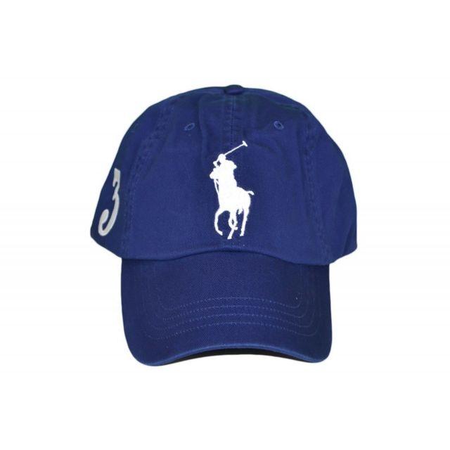 44e4dfb0bf4a Ralph Lauren - Casquette Big Poney bleu marine pour homme - pas cher Achat    Vente Casquettes, bonnets, chapeaux - RueDuCommerce