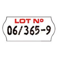 """Sato - Rouleau de 1500 étiquettes """"Lot N°"""" - Lot de 12"""