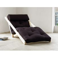 Karup - Fauteuil chaise longue en bois avec matelas futon Figo 70 - Anthracite