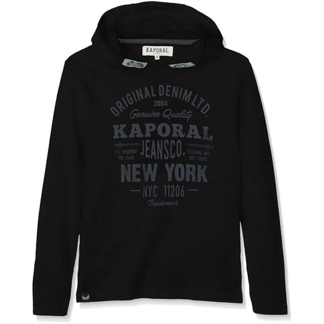 074c2d6172d3e Kaporal 5 - Kaporal T-shirt Manches Longues Garçon Nika Noir - Taille - 8