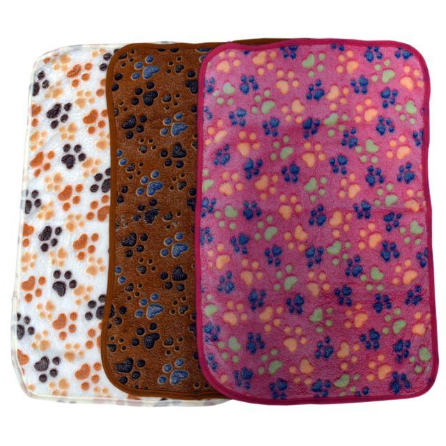 Mobili Rebecca Pile Serviette Couverture Motif Pattes Violet Chaud Chien Animaux Animal 40x60
