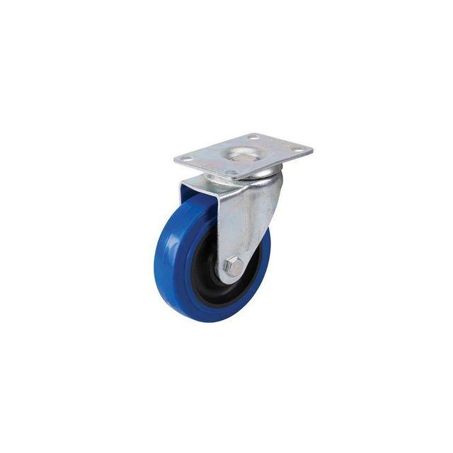 fixman roulette pivotante en caouthcouc avec frein d 100 mm 140 kg bleue 200742 pas cher. Black Bedroom Furniture Sets. Home Design Ideas