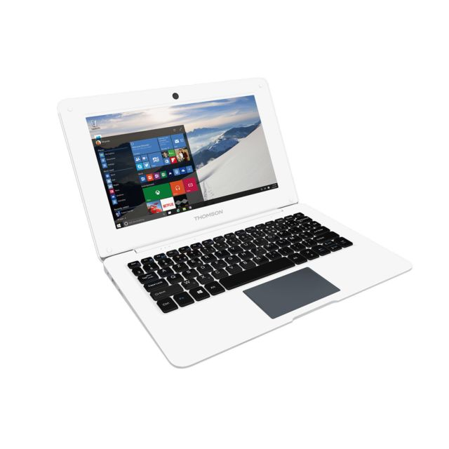 destockage thomson ultra portable 10 1 39 39 prestige blanc pas cher achat vente ordinateur. Black Bedroom Furniture Sets. Home Design Ideas