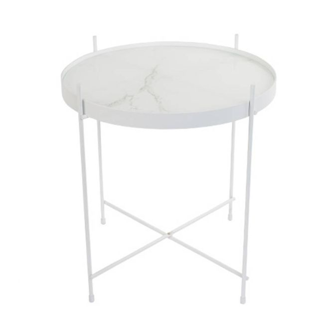 Inside 75 Zuiver Table basse Cupid Marble blanc