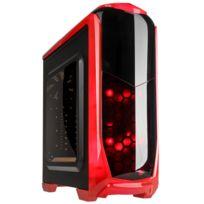 KOLINK - Boitier PC Aviator - Noir & Rouge avec fenêtre