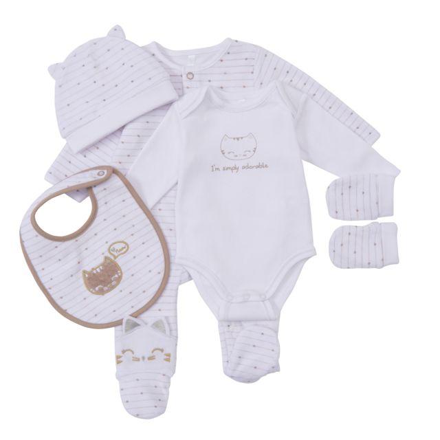 f70b58d815080 TEX BABY - Trousseau bébé 5 pièces - pas cher Achat   Vente Pyjamas ...