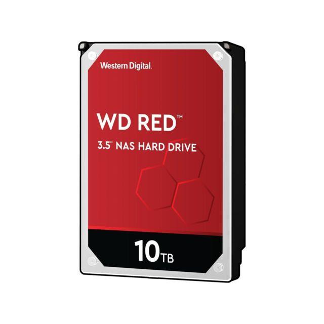 """WESTERN DIGITAL WD Red 10 To 3.5"""" SATA III 6 Gb/s, Cache 256 Mo Les disques durs WD Red NAS sont spécialement conçus pour les systèmes NAS dotés de 1 à 8 baies de disques de formats 3,5 et 2,5 pouces."""